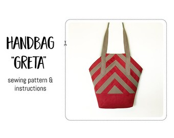 "Handbag ""Greta"" Sewing pattern & detailed instructions"