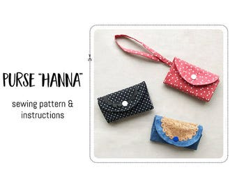 """Purse """"Hanna"""" Sewing pattern & detailed instructions"""