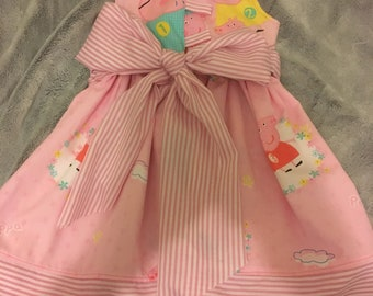 Girls party dress..  made to order.