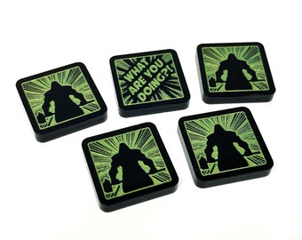 Limited Run Frosted Double Sided Force Token Set Acrylic Token Set