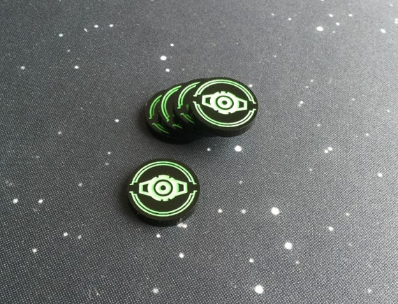 X-Wing 2.0 compatible acrylic stress tokens black series