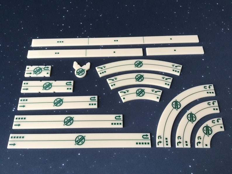 Mandalorian Crest acrylic maneuver template set X-Wing Miniatures 2.0 compatible