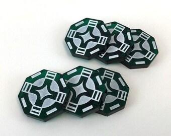 SW Legion compatible, acrylic standby token set