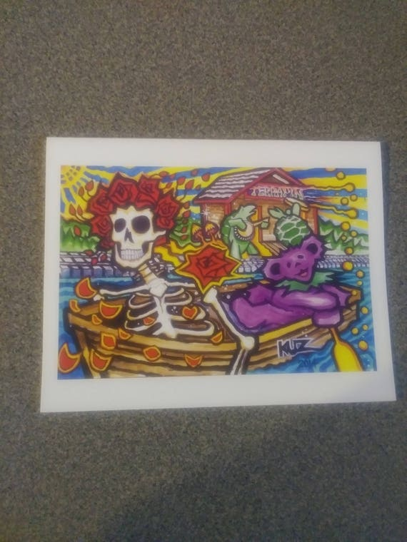 Grateful dead greeting card dead art blank greeting cards etsy image 0 m4hsunfo