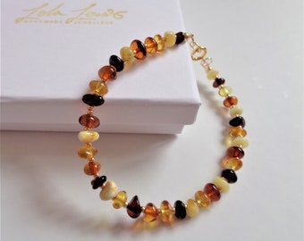 Round Milky Amber Silver Gold Plated Genuine Baltic Amber in gold Minimalist Jewelry Adjustable Chain Bracelet Delicate Amber Bracelet