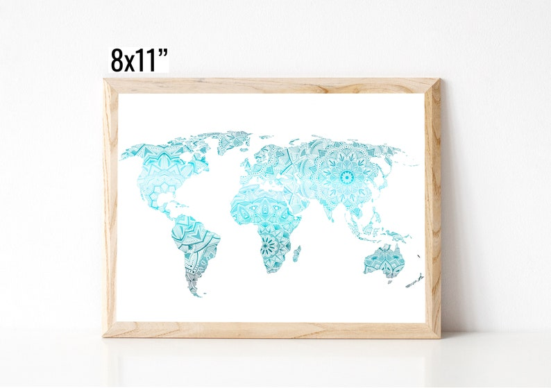 World Map Foil Print image 0