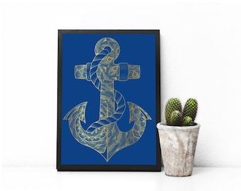 Anchor Foil Print