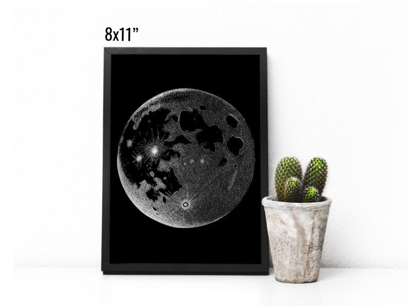 Stipple Moon Foil Print image 0