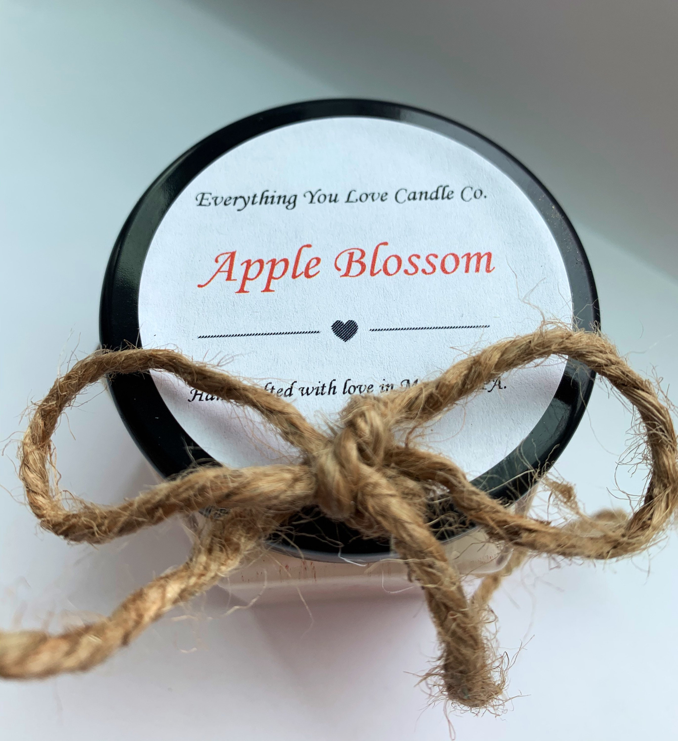 Apple Blossom 100% Soy 4oz Bougie avec glitter biodégradable
