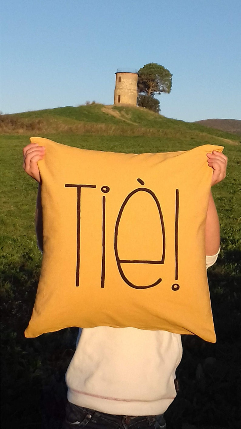 Decorative cushion handmade in Italy pillow lining Ti\u00e8