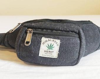 Hemp Fanny Pack Bum Bag Waist Pouch Money Utility Belt Hippie Eco Vegan Organic Natural Friendly Boho