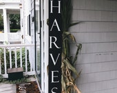 Harvest Front Porch Sign Outdoor Fall Decor Front Porch Decor Fall Home Decor Halloween Front Porch Decor Thanksgiving Sign