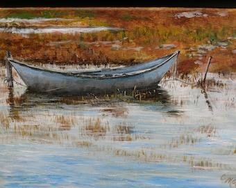 Fall Rowboat