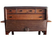 Original Portuguese 18th Century Fall-Front Cabinet, Exotic Wood, Table Cabinet