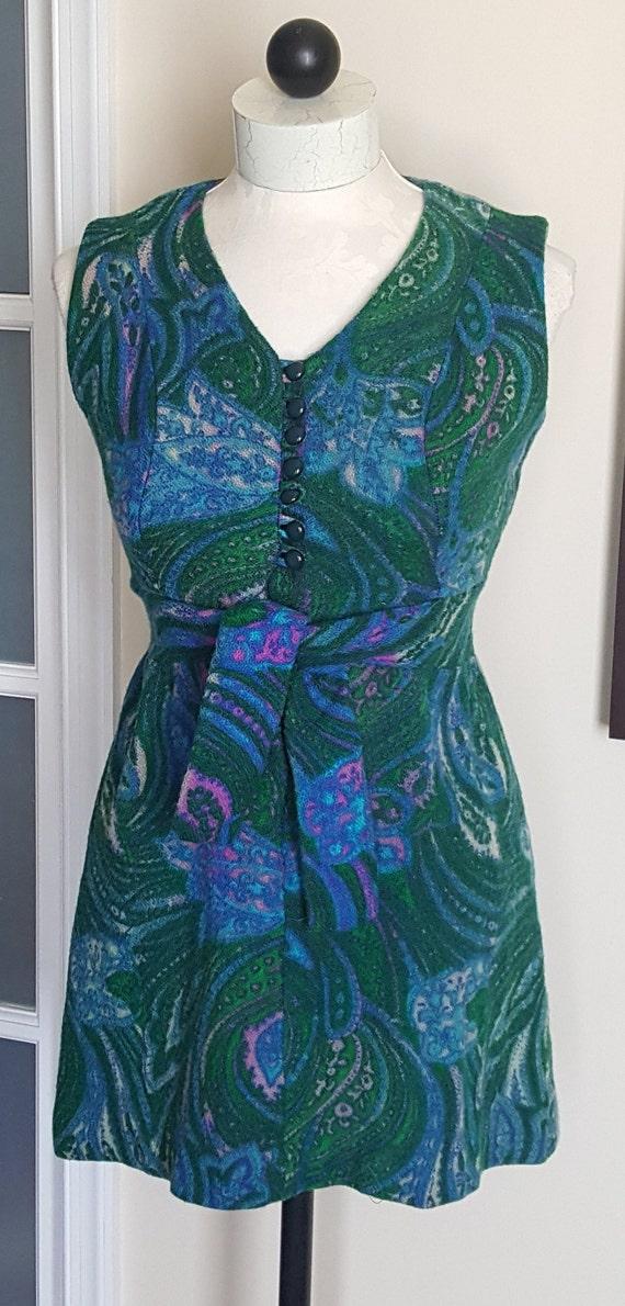 Vintage 60's Mini Dress, mod, retro, 1960's mini … - image 2