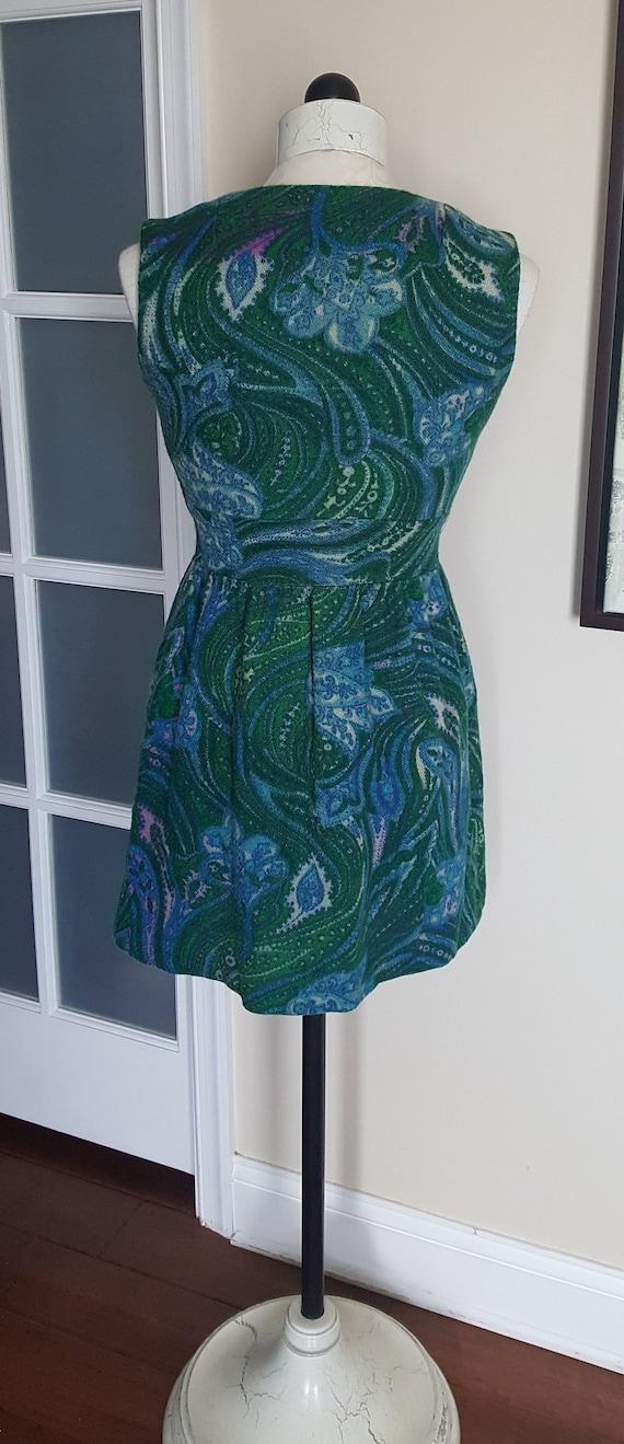 Vintage 60's Mini Dress, mod, retro, 1960's mini … - image 4