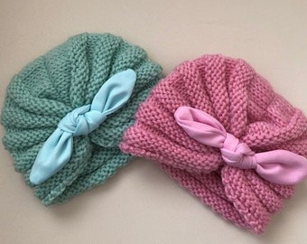 0258393365d Baby knitted Turban hats