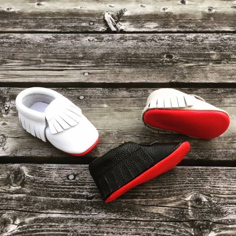 caf1eee30cfd6 HIGH QUALITY red bottom moccasins, baby boy red sole, Black Red Bottom  Moccasins, baby girl moccasins, Baby Moccasins, baby boy moccasins