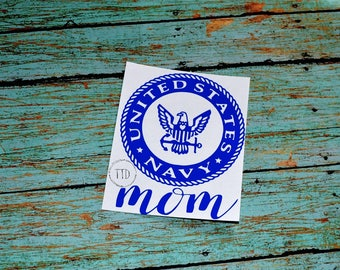 Navy Mom Decal United States Navy Mom United States Military United States Military Mom Decal US Military US Navy Anchor
