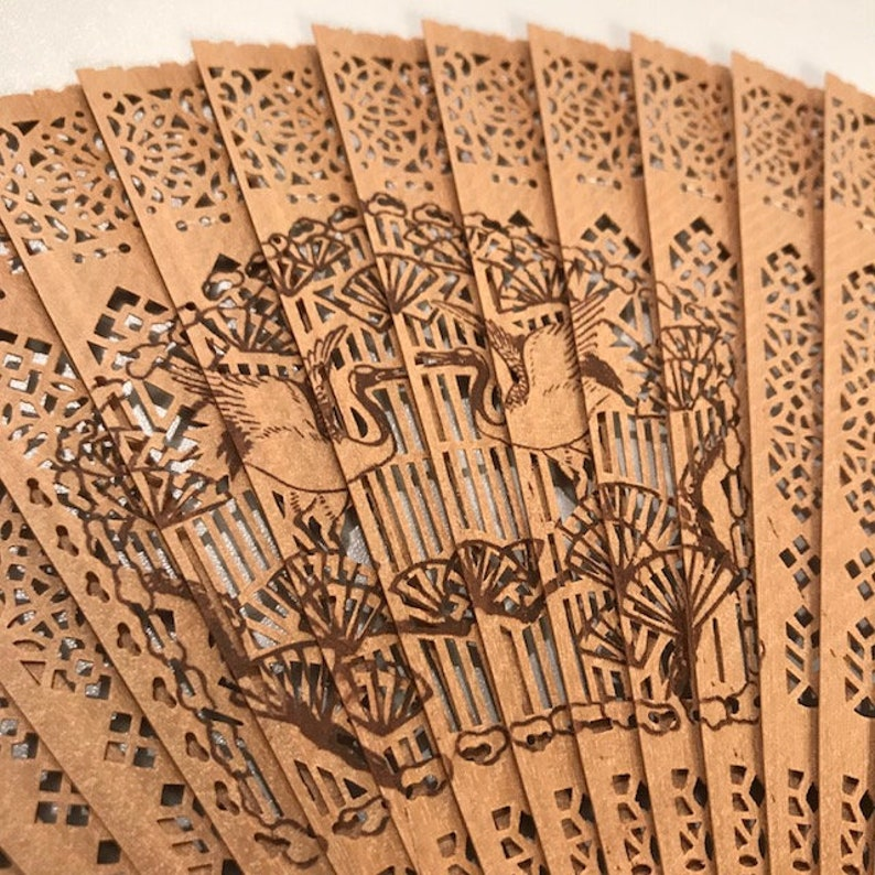 3 Asian Wood Folding Fans Decorative Ornate Hand Held Fans Vintage Chinese Home Decor Beautiful Wooden Fans From Far East Free Shipping