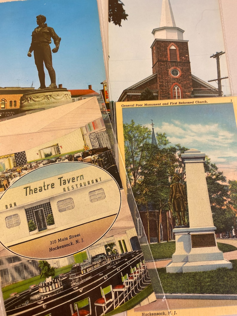 Variety of New Jersey Tourist Ephemera Free Shipping 18 Hackensack NJ Postcards Bergen County Court House Old Souvenir Post Cards