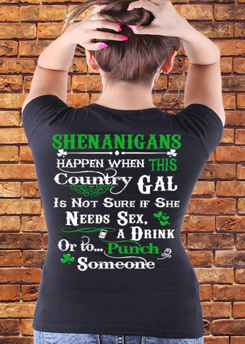 3963978e9 St Patrick's Day Shirt. Shenanigans Happen When This   Etsy