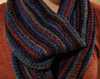 UPDATED COLOR OPTIONS   Chunky Crochet Infinity Scarf   Made to Order
