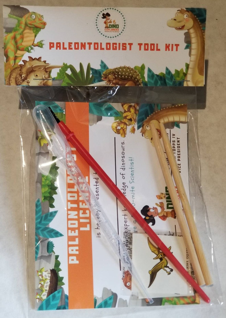 Paleontologist Kit-DINOSAUR Egg-Party Favor-Jurassic  Park-Explorer-Excavation-TRex-Dinosaur Invitation-Dinosaur  Decoration-Dinosaur Game