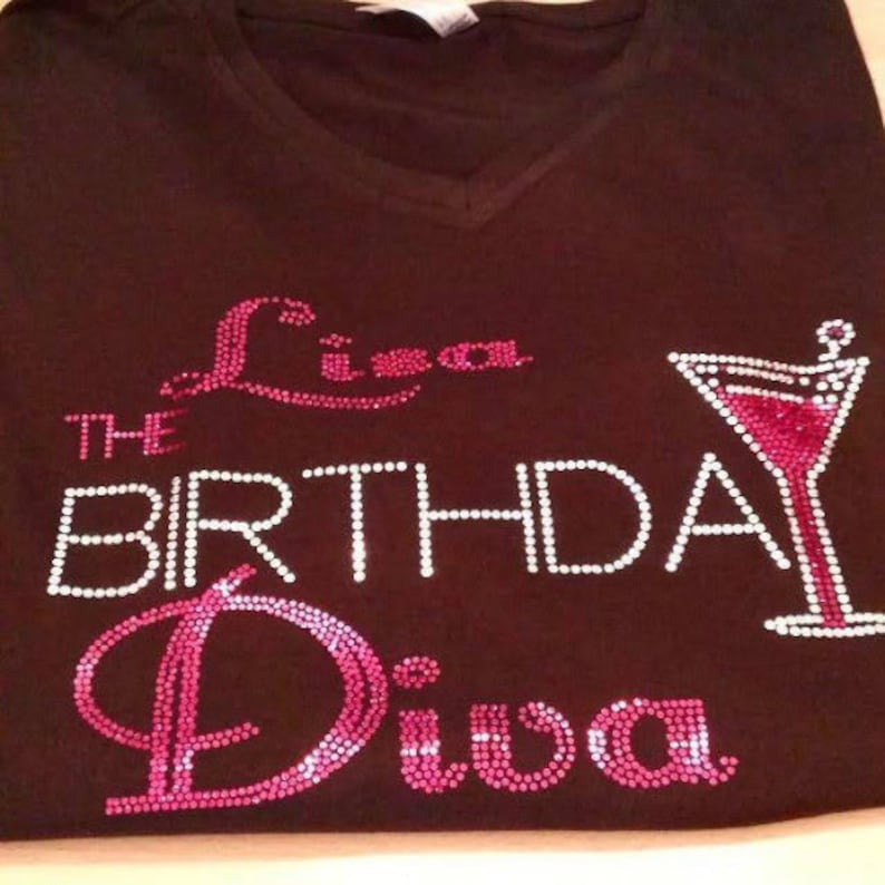 b9b45f7f1 THE BIRTHDAY DIVA customize with name | Etsy