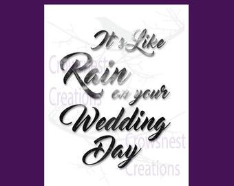 Rain On Wedding Day Etsy