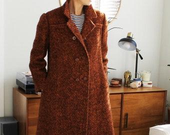 Vintage 70s brown tweed coat by /'Colin Becke of London/'