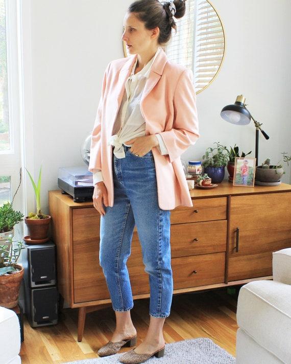 Vintage Peachy Pink Cashmere Blaer