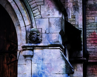 Abstract church, Stone building, High contrast