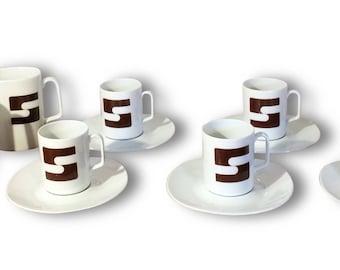 thin 70s porcelain coffee set
