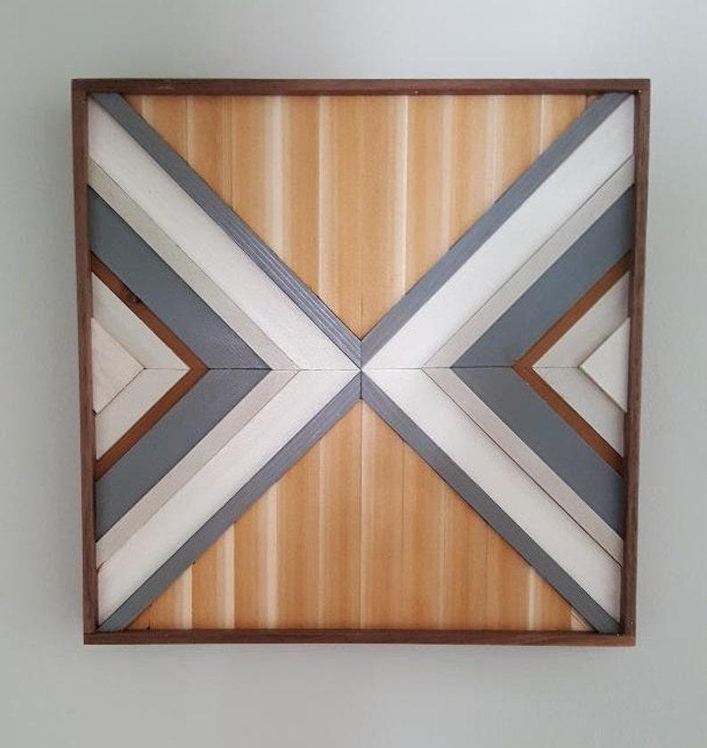 Holz Wand Kunst Kunst Holz Holz Wand Dekor Geometrische Etsy