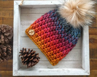 Faded sunset hat   Women's hat   Colorful hat   Sunset   Women's beanie   Colorful   Beanie   Faded beanie   Boho   Boho hat   Faded colors