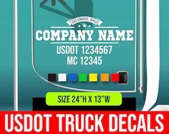"Pair USDOT Number Vinyl Decal Graphics 20/"" x 2/"" Semi Truck Sticker US DOT #"