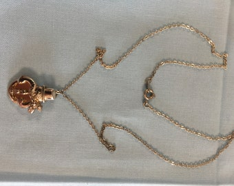 Necklace Snowman Silver Gold with Chain