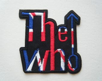 The Who Patch embroidered iron on sew on badge union jack flag classic rock mod new