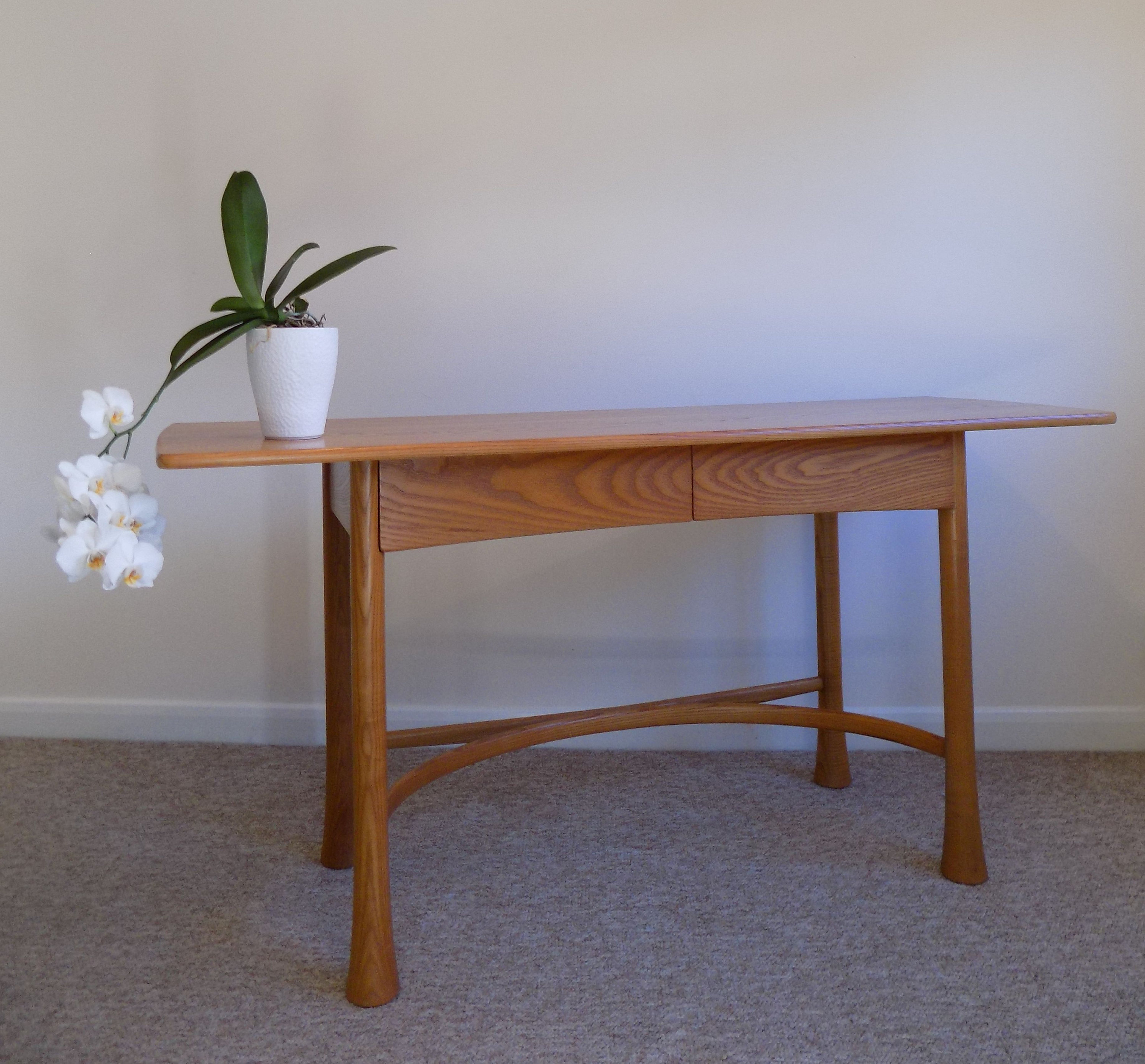 Ercol Saville Side Hall Console Table Blonde Finish 920