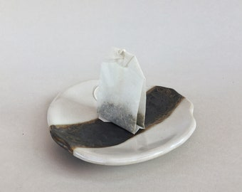 Small multipurpose plate, irregular shaped, Sage burning plate with sage stick, incense resin burning, etc, gift box option available