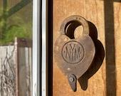 NYM New York Municipal Ry Brass Railroad Lock