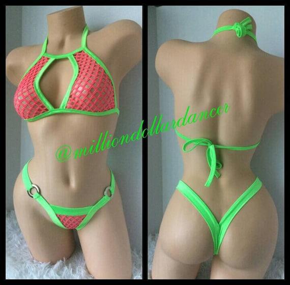 9b579032188 Exotic Dancewear  Stripper Outfit  Sexy Bikini  Fishnet