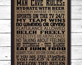 Man Cave Wall Art Etsy