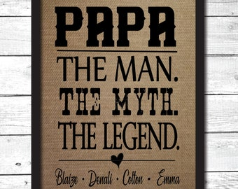 father's day gift for papa the man the myth the legend gift for papa personalized gift for papa papa gift idea papa sign papa Christmas FM33