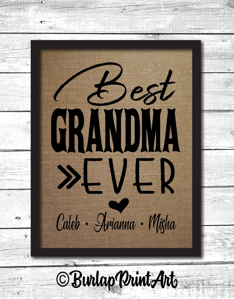 Best Grandma Ever Mothers Day Gift For Grandma Birthday Gift