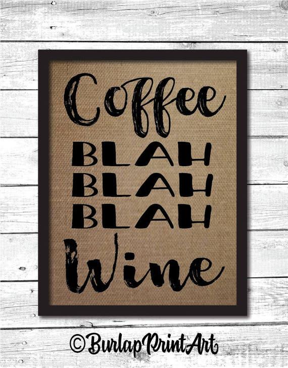 signe de café cadeau drôle de café, cadeaux café, signe drôle de cuisine, objets de decoration, art mural cuisine, café murale, art, art print café