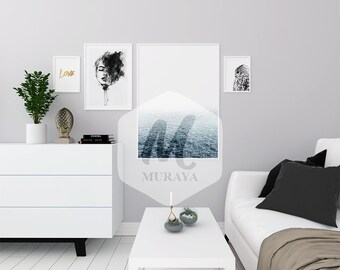 Download Free A3, Frames Mockup, white Frame, Styled Stock Photograpy, Scandinavian Style Interior, PSD Mockup, Modern Design PSD Template