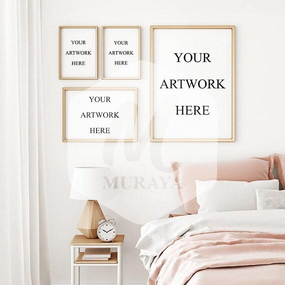A3 4 panel bedroom frames mock-up mix & match frames mockup   Etsy