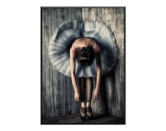 Fatigue, ballerina print, ballerina photography, Ballerina art, Contemporary home decor